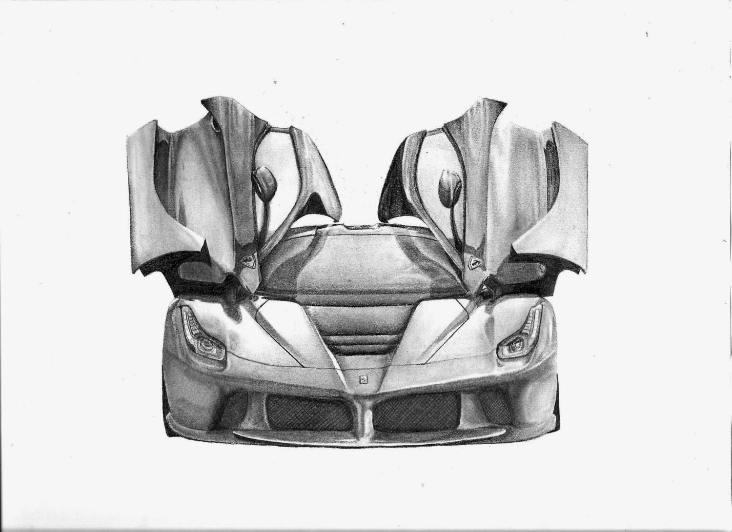 Items similar to Photocopy of an original LaFerrari drawing on Etsy