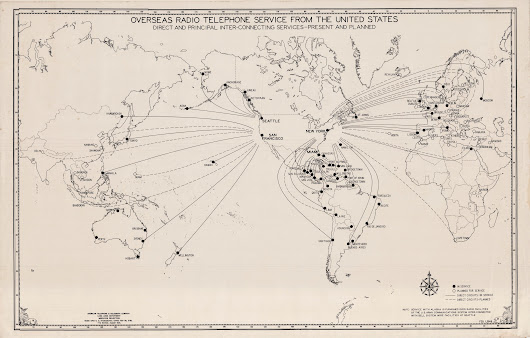 The worldwide AT&T radio telephone network as of 1946
