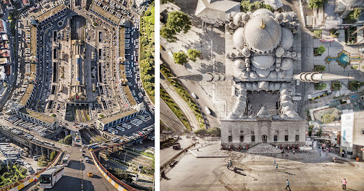 These Surreal Folding Landscapes Were Made Using Drone Photos