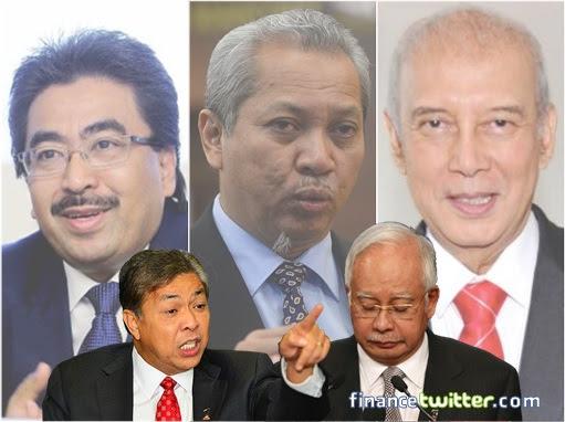 UMNO Ungrateful Warlords Against Najib Razak - Johari Abdul Ghani, Annuar Musa, Rahim Thamby Chik and Zahid Hamidi