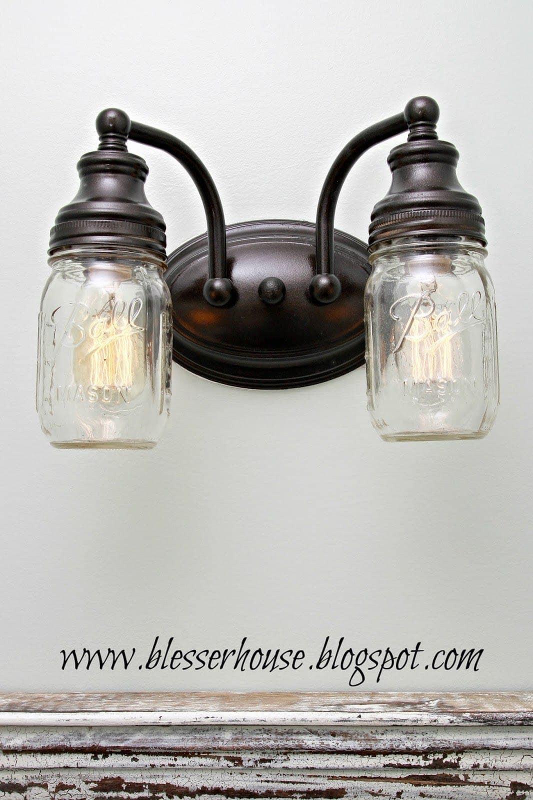 Ctw Mason Jar Vanity Lamp Amazon Com