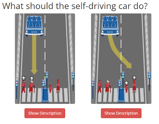 The ethics of self-driving cars – what would you do?