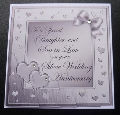 Daughter and Son in Law Silver Wedding Anniversary