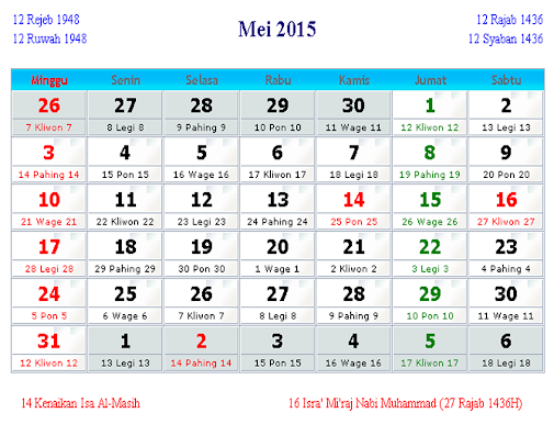 "Search Results for ""Tabel Klender 2015 Bulan 1 Jawa"" – Calendar ..."