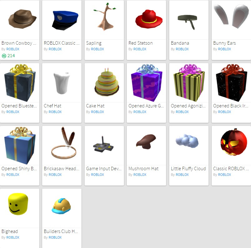 2008 Roblox Hats Roblox Free Old Event Items