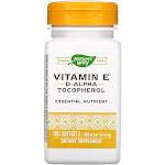 Nature's Way, Vitamin E 400 IU D-Alpha With Tocopherols, 100 Softgels