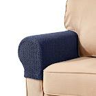 Subrtex Set of 2 Armrest Sofa Armchair Slipcovers, Blue