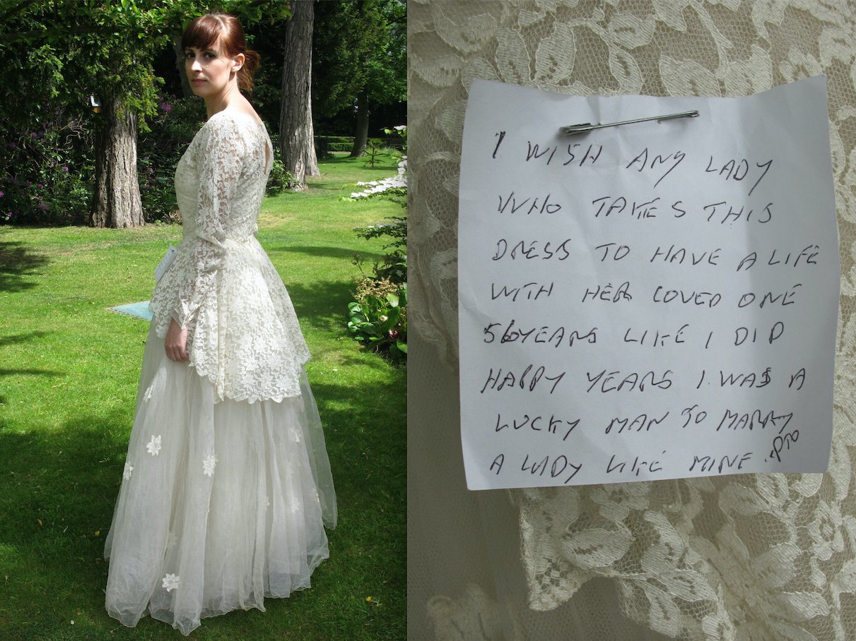Vintage wedding dress on eBay with sweet note goes viral ...