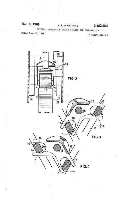 Patent US3482554 - Internal combustion engine v block cam