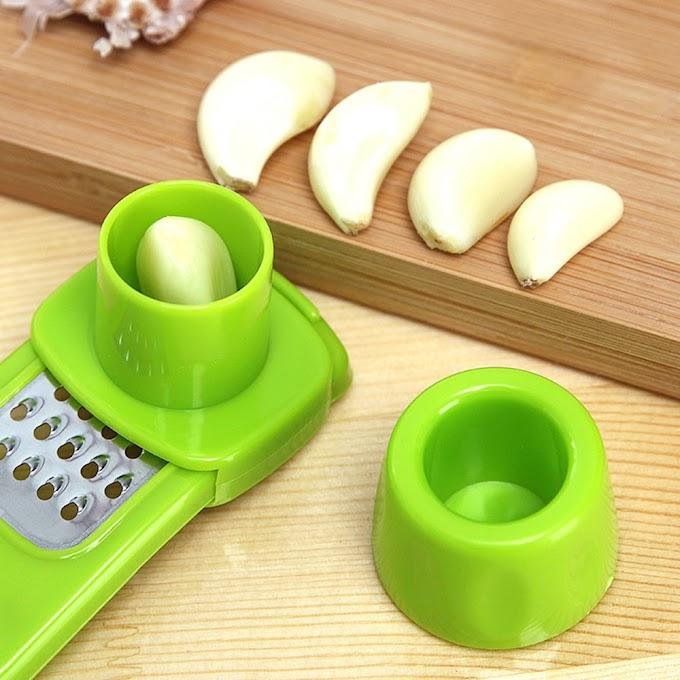 Best Offer  Multi Functional Ginger Garlic Grinding Grater Planer Slicer Cutter Cooking Tool Utensils Kitchen A