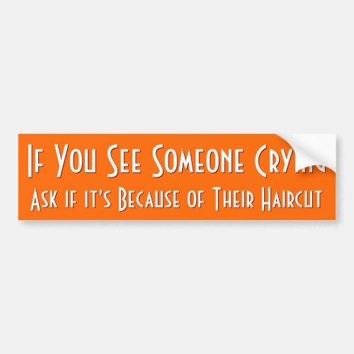 If You See Someone Crying | Funny Bumper Sticker