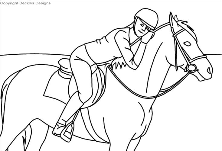 Show Jumping Coloring Pages at GetColorings.com   Free ...