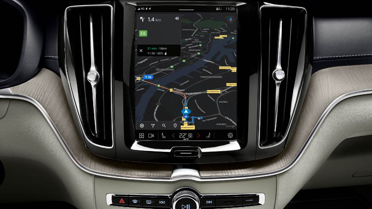 The 2021 Volvo XC60 features the same Google Android-based infotainment system that debuted on the XC40 Recharge. Image: Volvo