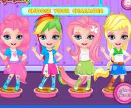 Bebek Barbie Pony Yüz Boyama Oyna