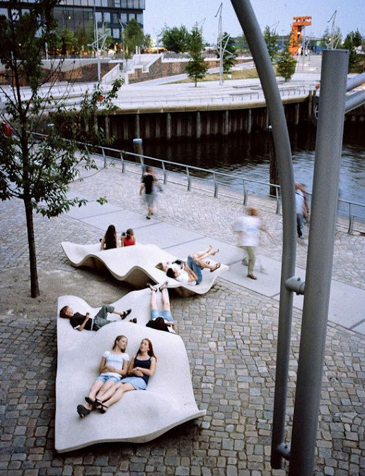 Hafencity Public Space | Public spaces, Living rooms and Spaces