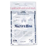 PM Company Tamper-Evident Deposit Bags, Plastic, Clear, 100 Bags (PMC58002)