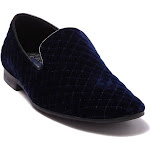 Giorgio Brutini Velvet Chatwal Quilted Loafers Men's