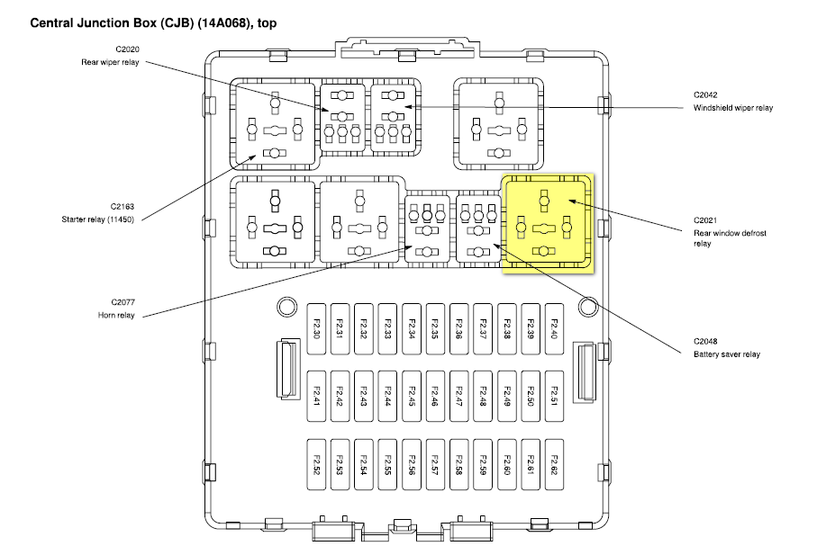 Ford Focus Relay Diagram