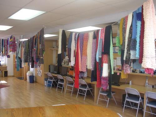 Knitting Olympics Scarves