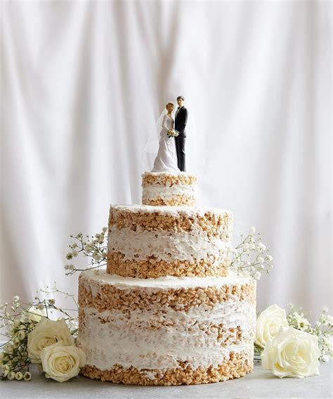 No Bake Rice Krispies Wedding Cake Recipe   POPSUGAR Food