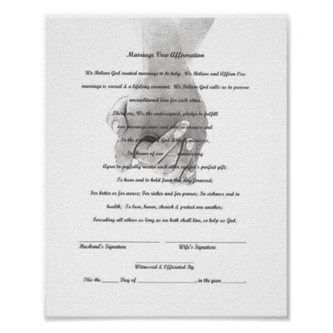 Certificate Marriage Vow Renewal Template Poster   Zazzle