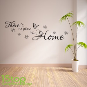 Theres No Place Like Home Wall Sticker Quote Bedroom Wall Art