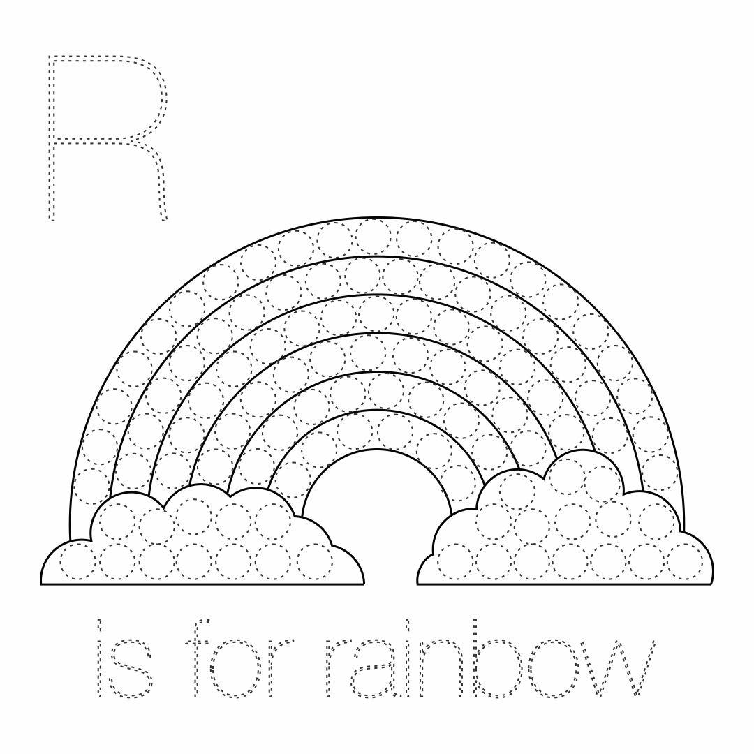 6 Best Images of Rainbow Do A Dot Art Printables - Rainbow ...