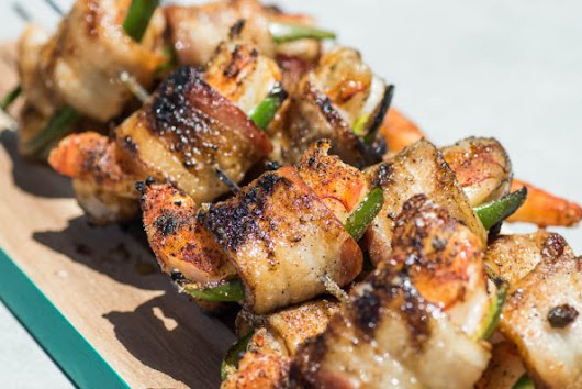 Grilled Jalapeno Bacon Wrapped Shrimp Recipe