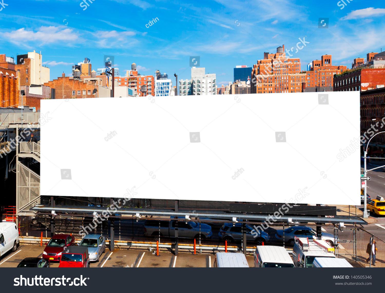 Big Blank Billboard New York City Stock Photo 140505346 - Shutterstock