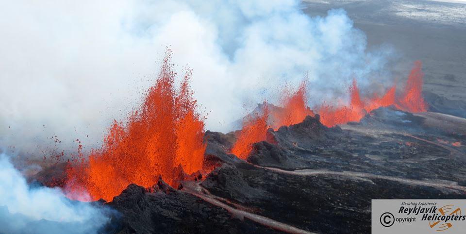 Volcanic Eruption in Iceland-Holuhraun Volcano-2014