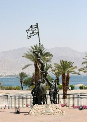 Il monumento che ancora oggi commemora la conquista di Eilat avvenuta nel 1949.