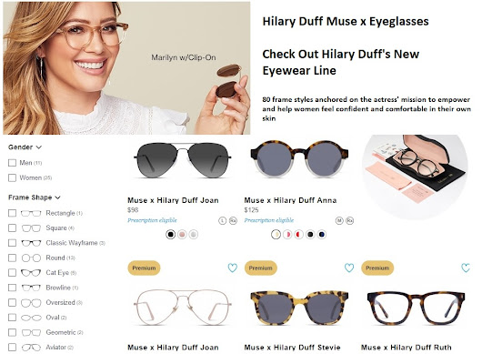 Hilary Duff Muse X Eyewear Collection found online at GlassesUSA