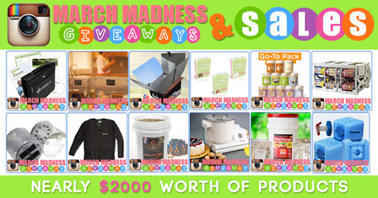 March Madness Giveaway and Sales - Food Storage Made Easy