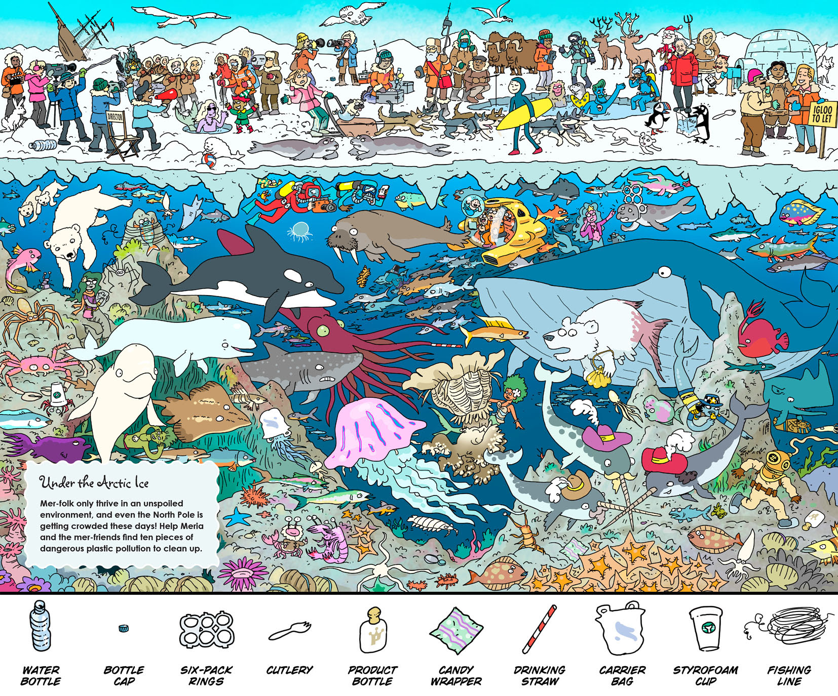 "Under the Arctic Ice - From ""Where's The Mermaid?"" by Chuck Whelon"