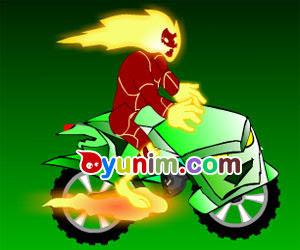 Ben 10 Ateş Adam Motor Oyunu