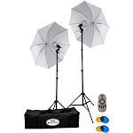 Savage 500 Watt LED Studio Light Kit - Continuous light kit - 2 heads x 1 lamp - LED - AC