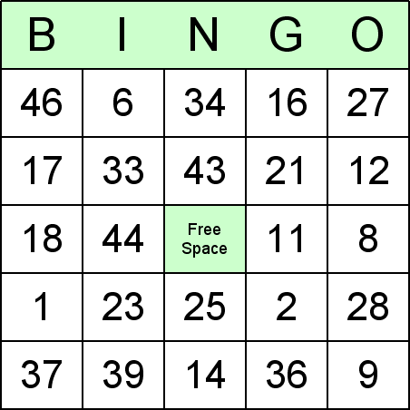 Subtraction Bingo Cards for teaching math and arithmetic