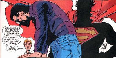 That's right, Superman. Feel guilty.