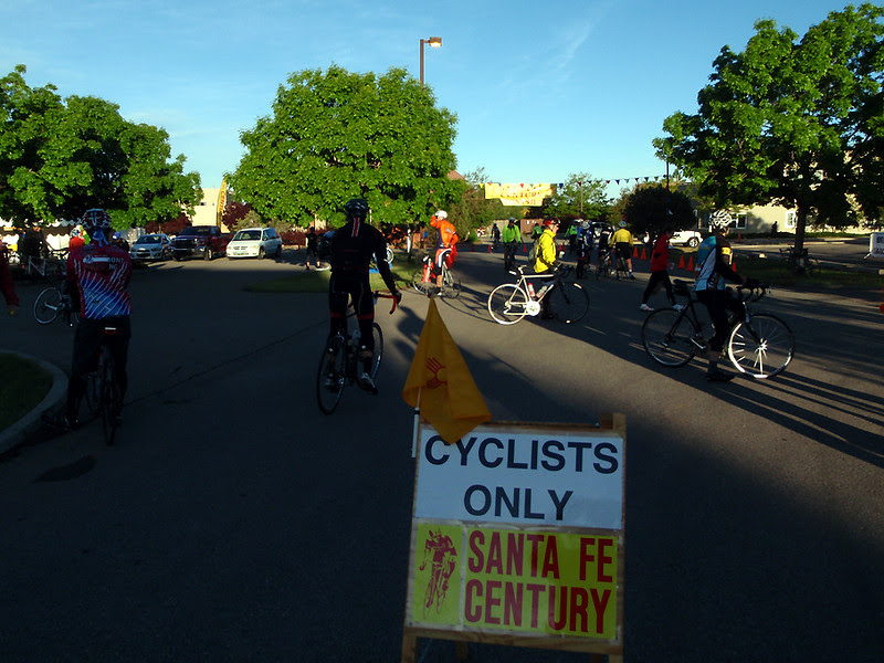 The staging area for the Santa Fe Century.