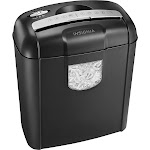 Insignia - 6-Sheet Crosscut Shredder - Black