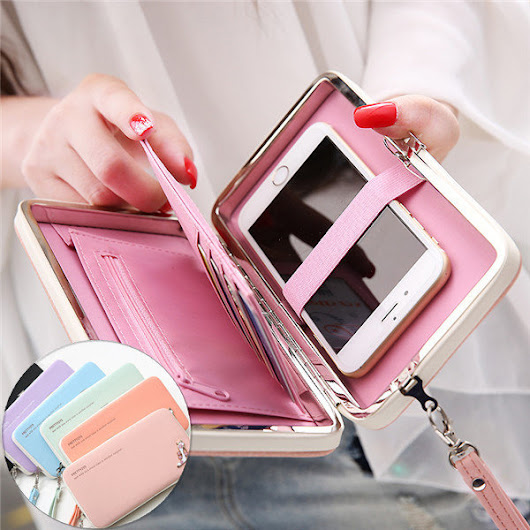 Universal 5.5 Inch High Heels Functional Phone PU Wallet Case Cover For Xiaomi Samsung Sony Huawei Sale - Banggood Mobile