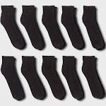 Men's Quarter Socks 10pk - Goodfellow & Co Black 6-12