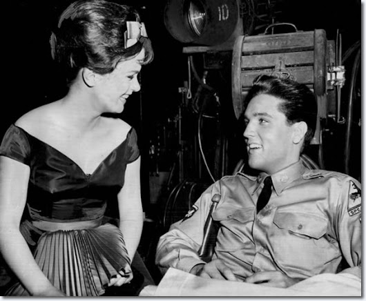 Elvis Presley and Leticia Roman