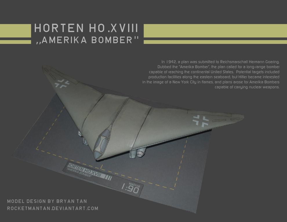 Horten H.XVIII Paper Model