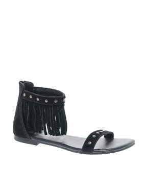 Image 1 of New Look Fringe Sandals