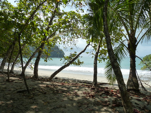 the beach at Manuel Antonio Park, Costa Rica