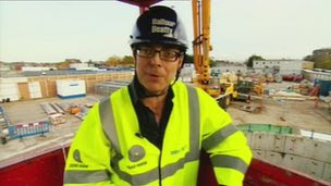 Nick Robinson visits one of the energy infrastructure projects