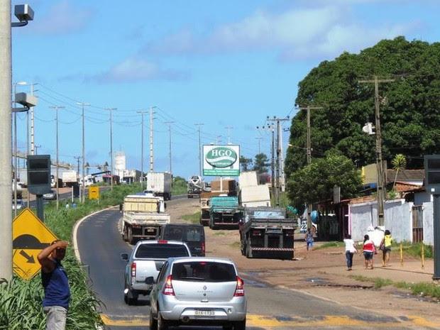 Barreira eletrônica foi instalada no Km 8.2 da BR-135, no trecho que dá acesso ao Porto do Itaqui (Foto: Ascom/DNITMA/Divulgação)