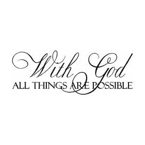 With God All Things Are Possible Tattoo On Foot