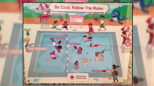 'Super racist' pool safety poster prompts Red Cross apology